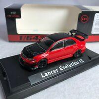1/64 CM Model Mitsubishi Evolution IX Red / Black Diecast HECM2019002