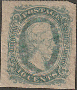 Confederate CSA #11AD  Archer & Daly Ten Cent Stamp