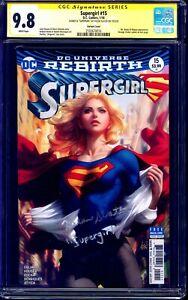 Supergirl #15 ARTGERM VARIANT CGC 9.8 signed HELEN SLATER + INSCRIPTION