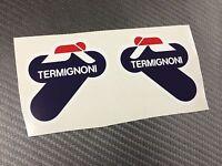 2 AdesivI Stickers TERMIGNONI resistente al calore 11 cm DX e SX