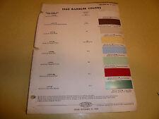 1960 AMC Dupont Duco DuLux Color Chip Paint Sample