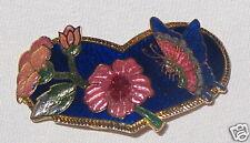 Butterfly - Scarf Cinch Jewelry - Metal Blue Goldtone