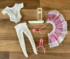 VINTAGE 1970'S PEDIGREE ACTIVE SINDY DOLL COMPLETE BALLERINA OUTFIT & STAND