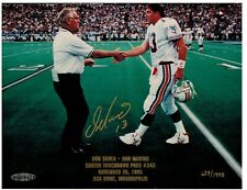 Dan Marino Dolphins AUTOGRAPH 8x10 TD Pass #343 UDA photo with Shula 627/1995