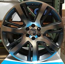 24 Wheels Black Mch Rims Fit Cadillac Escalade Yukon Tahoe Silverado Sierra 26