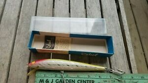 """Vintage Fishing Lure - Rebel Minnow Saltwater 7"""" Great Color! - New in Box"""