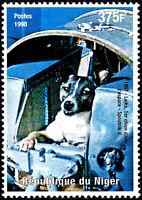 Niger postfrisch MNH Raumfahrt Rußland Sputnik 2 Hund im Weltraum Laika Kosmos
