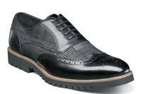 Stacy Adams Baxley Mens Shoes Oxford Wingtip Black 25217-001