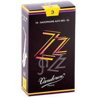 Vandoren ZZ Alto Saxophone Reeds Strength - 3, Box of 10