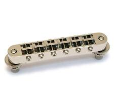 Gotoh GE101B Nickel Tune-O-Matic Guitar Bridge w/Nashville Studs for USA Gibson®