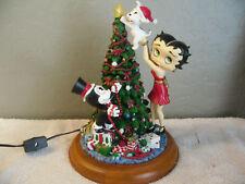 "Danbury Mint Betty Boop Light Up Christmas Tree Statue Figurine Complete 10"""
