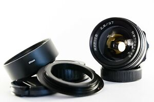 Mir-1 37mm lens with anamorphic oval bokeh & flare streaks for Canon DSLRs