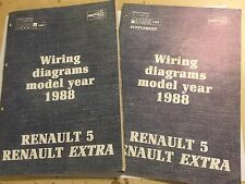RENAULT 5 + EXTRA ELECTRICAL WIRING & HARNESS DIAGRAMS OEM FACTORY MANUAL 1988