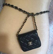 Authentic chanel black belt bag /mini bag