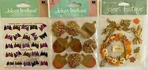 U Pick Jolees stickers FALL, HALLOWEEN, BATS, ACORNS, WREATH, INDIAN CORN