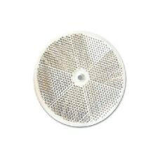 """3"""" Inch Round White Clear Reflector Delineator Marker Bicycle Vehicle Button"""