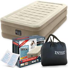 INTEX Luftbett 64426 Twin 99 x 191 x 46 cm mit eingebauter Luftpumpe + Tasche