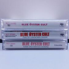 Blue Oyster Cult Cassette Tapes Lot of 3 fire some self 30z