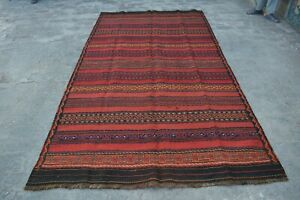 5 x 9'2 Feet Vintage Afghan Tribal Anaari Gorgeous Color Design KIlim rug 1097 b