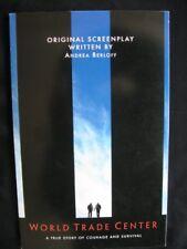 B002UB30LS WORLD TRADE CENTER Original Screenplay by Andrea Berloff