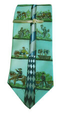 Silk Tie May Tree Painted Edelweiss Tie Pin MB5 8K30 Traditional Costume