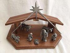 Rawcliffe Pewter Nativity Set 1980 Manger 7 Figures & Star