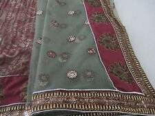 half net and  half chiffon saree