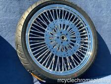 DNA Mammoth 52 Spoke Chrome 21 Front Wheel 2 Rotors Tire Harley Touring 08-20