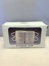 Vintage Precious Moments A Perfect Team Coffee Cups by Artist Samuel J. Baker