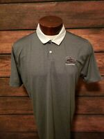 Nike Dri Fit  Mens Gray White Short Sleeve Golf Polo Shirt NWOT