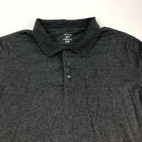 George Polo Shirt Men's Size 2XL XXL Short Sleeve Gray Casual Golf Cotton Blend