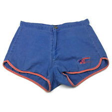 Stubbies Womens Shorts Size 30 Vintage Blue Red Faded