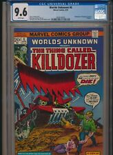 MARVEL COMICS WORLDS UNKNOWN #6 1974 CGC 9.6 WP KILLDOZER ADAPTATION