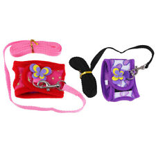 2 Sets Hamster Harness Outdoor Leash Set Traction Rope Small Animal Vest