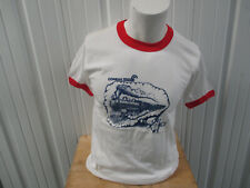VINTAGE SECO CONRAIL NORTHEAST RAILWAY DRAWING LARGE T-SHIRT 80s Consolidated