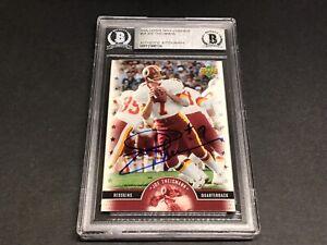 Joe Theismann Signed 2005 Upper Deck Legends Card #59 Auto Beckett BAS COA 1A