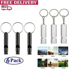 6pcs Sports Survival Whistle Outdoor Camping Safety Training Emergency Gear Tool