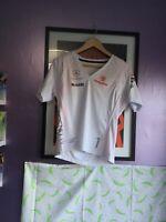 official McLaren Ladies F1 Alonso v-neck T-Shirt - L Large Formula 1