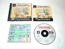 CIVILIZATION II complete in box with manual + poster PAL PS1 Sony Playstation 1