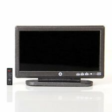 Dollhouse Miniature Widescreen Flat Panel LCD TV with Remote Gray HY