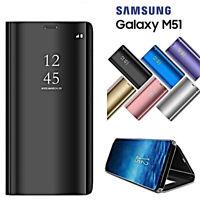 Cover Für Samsung Galaxy M51 Kippen Schutzhülle Original Spiegel Clear Anzeigen