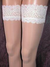 Plus size Black Nude White Patterned hold ups Ballerina 363 20 22 24 26 28