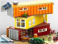 Containerhaus - Custom MOC - PDF Bauanleitung - kompatibel mit LEGO Steine