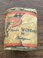 Vintage Paper Label for Shakespeare Howald Wonderod Fishing Rod Tube. Label Only