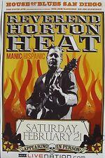 REVEREND HORTON HEAT / MANIC HISPANIC 2009 SAN DIEGO CONCERT TOUR POSTER