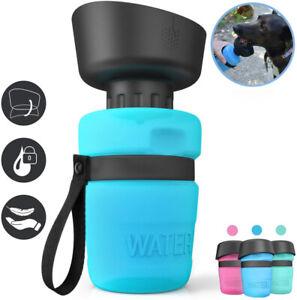 Trinkflasche für Hunde unterwegs Haustier Wasser Napf Outdoor lebensmittelecht