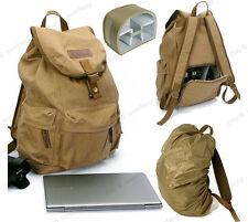 Waterproof Canvas DSLR Camera Backpack Laptop Rucksack Daypack Travel Bag Padded