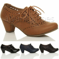 Calzado de mujer botines de tacón medio (2,5-7,5 cm) de piel sintética