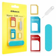 A SIM Card Adapter, Helect 5-in-1 Nano & Micro SIM Card Adapter Kit Converter 1
