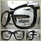 CLASSIC VINTAGE RETRO Style Clear Lens EYE GLASSES Black  Gold Fashion Frame